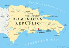 Dominican Republic Political Map Stock Photography