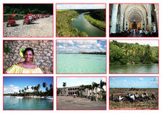 Dominican republic postcard royalty free stock images