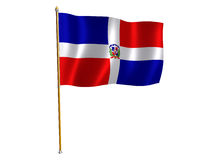 Dominican Republic silk flag Stock Images