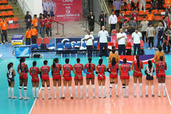 Dominican Republic volleyball team Royalty Free Stock Photo