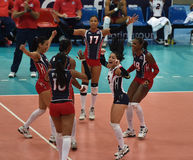 Dominican Republic volleyball team Royalty Free Stock Photos