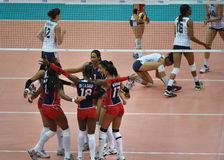 Dominican Republic volleyball team Stock Photography