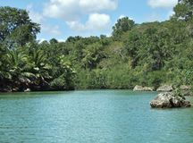 Dominican Republic waterside scenery Stock Photo