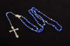 Dominican rosary isolated on the black background Royalty Free Stock Image