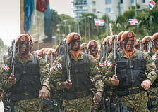 Dominican Soldiers Marching royalty free stock images