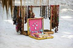 Dominican souvenirs. Stefilia's Stone. Jewellery Larimar. Royalty Free Stock Photo