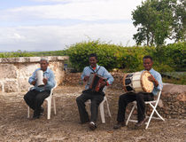 Dominican street musicians Royalty Free Stock Photography