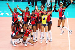 Dominican volley Royalty Free Stock Photography