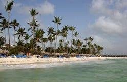 Dominicana Bavaro strand Arkivfoto