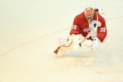 Dominik Furch - ishockey Royaltyfri Bild