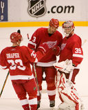 Dominik Hasek And Andreas Lilja Talk After A Win Royalty Free Stock Photography