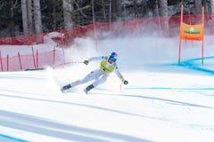 DOMINIK PARIS AIE participa na corrida para a raça SUPER de G o MENÂ dos FINAIS do MUNDO do ESQUI do FIS Ski World Cup Finals alp imagem de stock royalty free