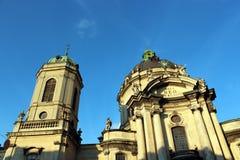 Dominikański monaster w Lviv i kościół zdjęcia royalty free