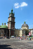 Dominikański monaster w Lviv i kościół obraz royalty free