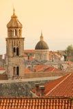 Dominikańskiego monasteru dzwonkowy wierza dubrovnik Chorwacja obrazy royalty free