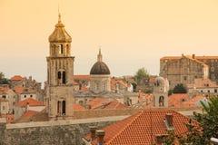 Dominikańskiego monasteru dzwonkowy wierza dubrovnik Chorwacja obraz stock