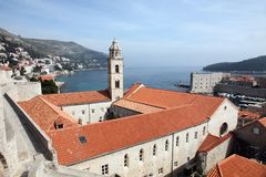 Dominikan kyrkliga Dubrovnik fotografering för bildbyråer