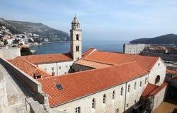 Dominikan kyrkliga Dubrovnik royaltyfria foton