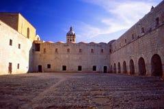 Dominikan Monastry i den Oaxaca staden arkivfoto