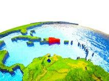 Dominikanische Republik auf Erde 3D stock abbildung