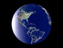 Dominikanische Republik auf Erde vom Raum lizenzfreie stockfotos