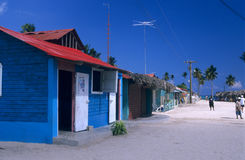 Dominikanische Republik des Saona Inseldorfs Lizenzfreies Stockfoto