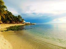 Dominikanische Republik Strand, bayahibe, Erholungsort lizenzfreies stockfoto