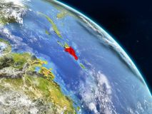 Dominikanische Republik vom Raum stock abbildung