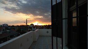 Dominikanischer Sonnenuntergang lizenzfreies stockfoto