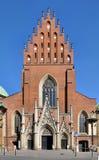 Dominikankyrka för helig Treenighet i Krakow, Polen arkivbilder