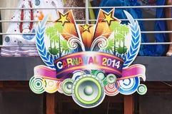 Dominikansk karneval 2014 Arkivfoton