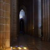 Dominikansk kloster i den borgerliga församlingen av Batalha, i det distric Arkivfoton
