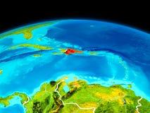 Dominikanska republiken i rött Royaltyfria Foton