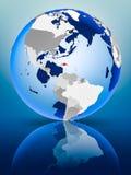 Dominikanska republiken på jordklotet vektor illustrationer