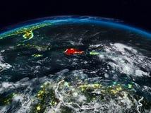 Dominikanska republiken på natten royaltyfri fotografi