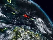 Dominikanska republiken på natten royaltyfri illustrationer