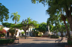 Dominikanska republiken - Santo Domingo - Parque Duarte Arkivbilder