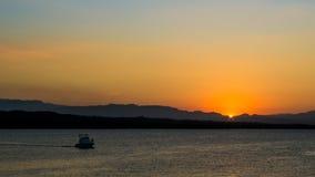 Dominikanska republiken - solnedgång på Puerto Plata Royaltyfri Fotografi
