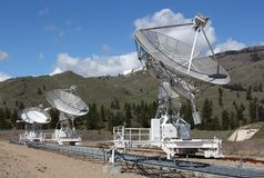 Dominion Radio Astrophysical Observatory, BC. A portion of the array at the Dominion Radio Astrophysical Observatory Radio Telescope in the Okanagan, near royalty free stock photography