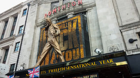 Dominion Theatre in London Stock Photo