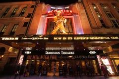 The Dominion Theatre at night stock photo