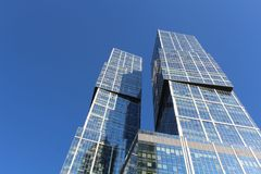 Dominion Towers, Moscow royalty free stock photography