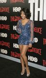 Dominique Fishback. Actress  Dominique Fishback arrives for the New York premiere of HBO`s multi-part drama, `The Deuce,` The dramatic series follows the story Royalty Free Stock Image