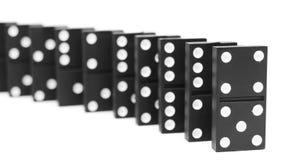 Domino。 在空白背景。 图库摄影