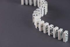 Domino作用 免版税库存图片