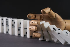 Domino作用 库存图片