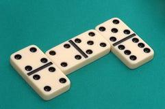 Domino比赛 免版税图库摄影