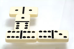 Domino比赛 图库摄影