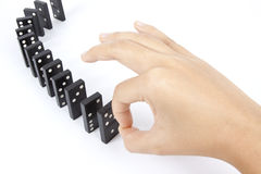 Domino秋天 免版税库存图片