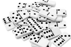Domino部分 免版税库存照片